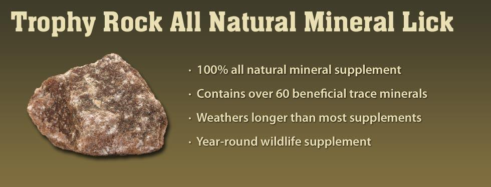 Mineral rock deer lick